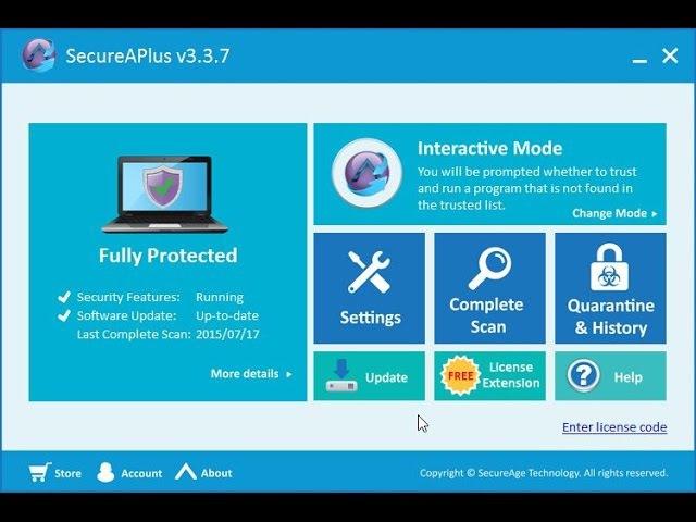 Обзор и тест SecureAPlus Freemium 3.3.7.