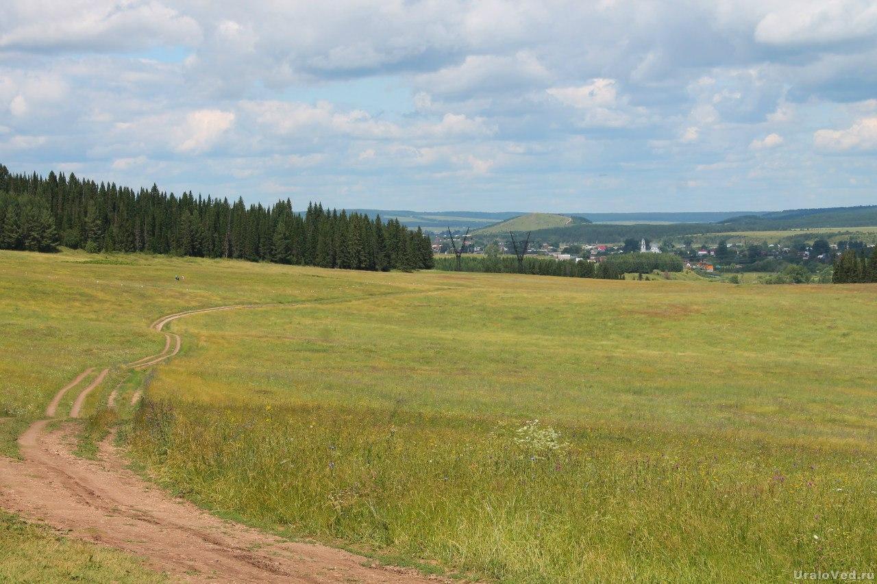 Село Ключи и гора Городище