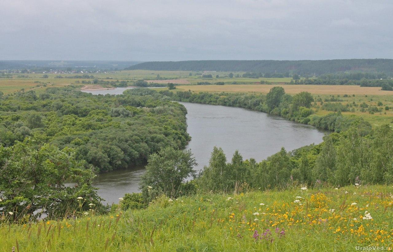 Река Сылва со Спасского городища