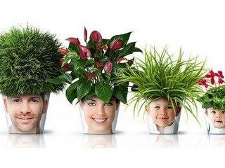 Позитив! Распечатываем семейные фотографии и помещаем на цветочные горшки
