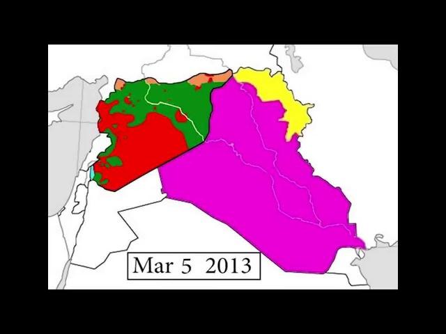 Развитие вооруженного конфликта в Сирии (2011-2015). Инфографика.