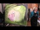 Качели в лесу, уроки рисования, курсы живописи для взрослых, Игорь Сахаров