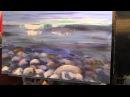 Научиться рисовать море, воду, камни, курсы живописи для начинающих, Сахаров Игорь
