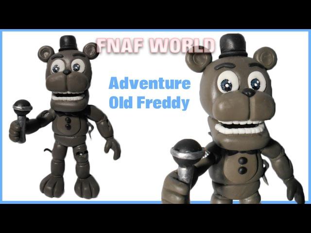 FNAF WORLD | Adventure Old/Withered Freddy Polymer Clay Tutorial | Porcelana Fría ★ Plastilina