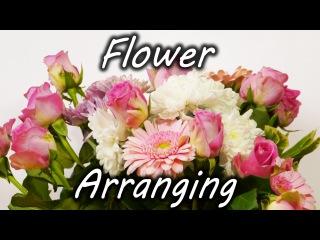 Отличная идея , как сделать так , чтобы цветы в вазе стояли красиво// Flower Arranging Trick