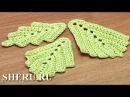 How To Crochet Leaf Урок 3 Вязание крючком листочка