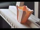 Оригами ваза из бумаги