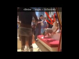Justin Bieber drinking water at Drais Beach Club in Las Vegas, Nevada - June 20, 2015
