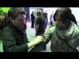 Jenn Croft Cosplay at E3 2015 as Tomb Raider Lara Croft