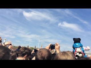 Москва, Парад Победы. 9 мая 2015 год. Авиационное представление.