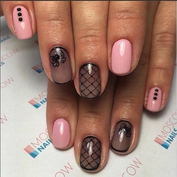 Вуаль на ногтях дизайн
