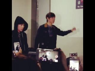 151103 [Fancam] After In The Heights Musical ~ Dongwoo & Sunggyu