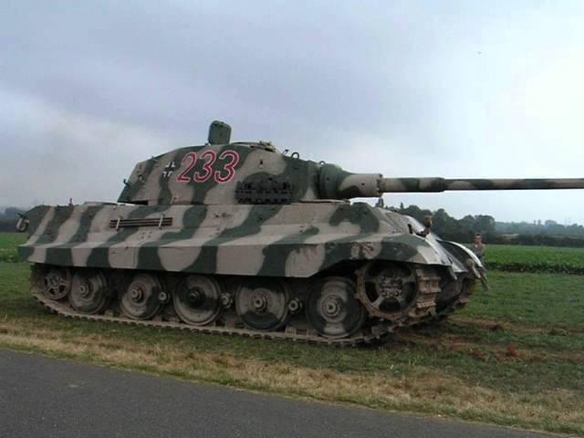 Tiger II tank - restored running