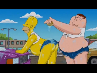 Family Guy - Peter Griffin _ Homer Simpson