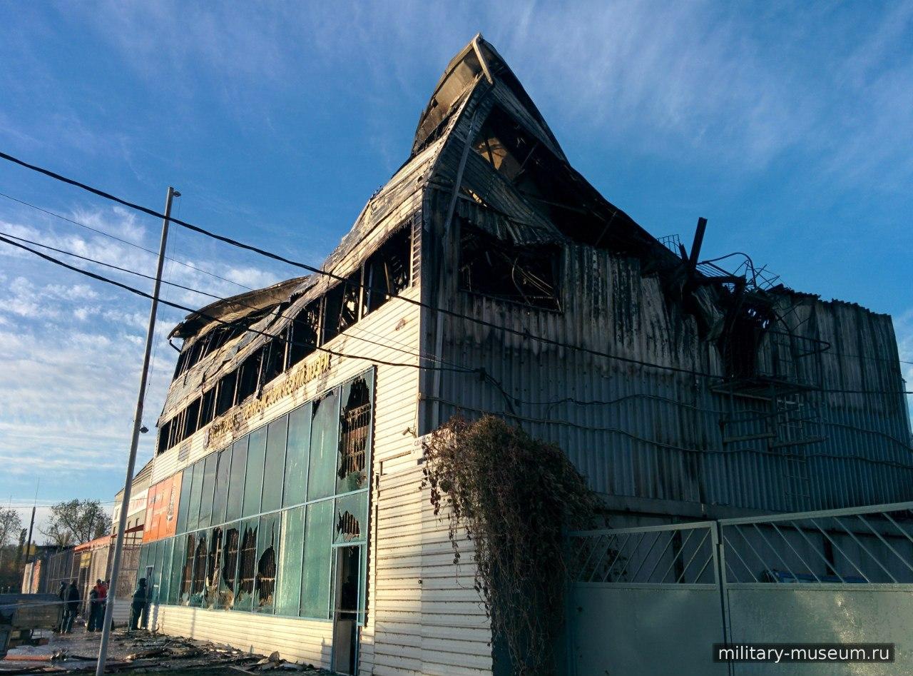 Сгоревший военно-исторический музей в Таганроге будут возрождать из пепла за счет пожертвований