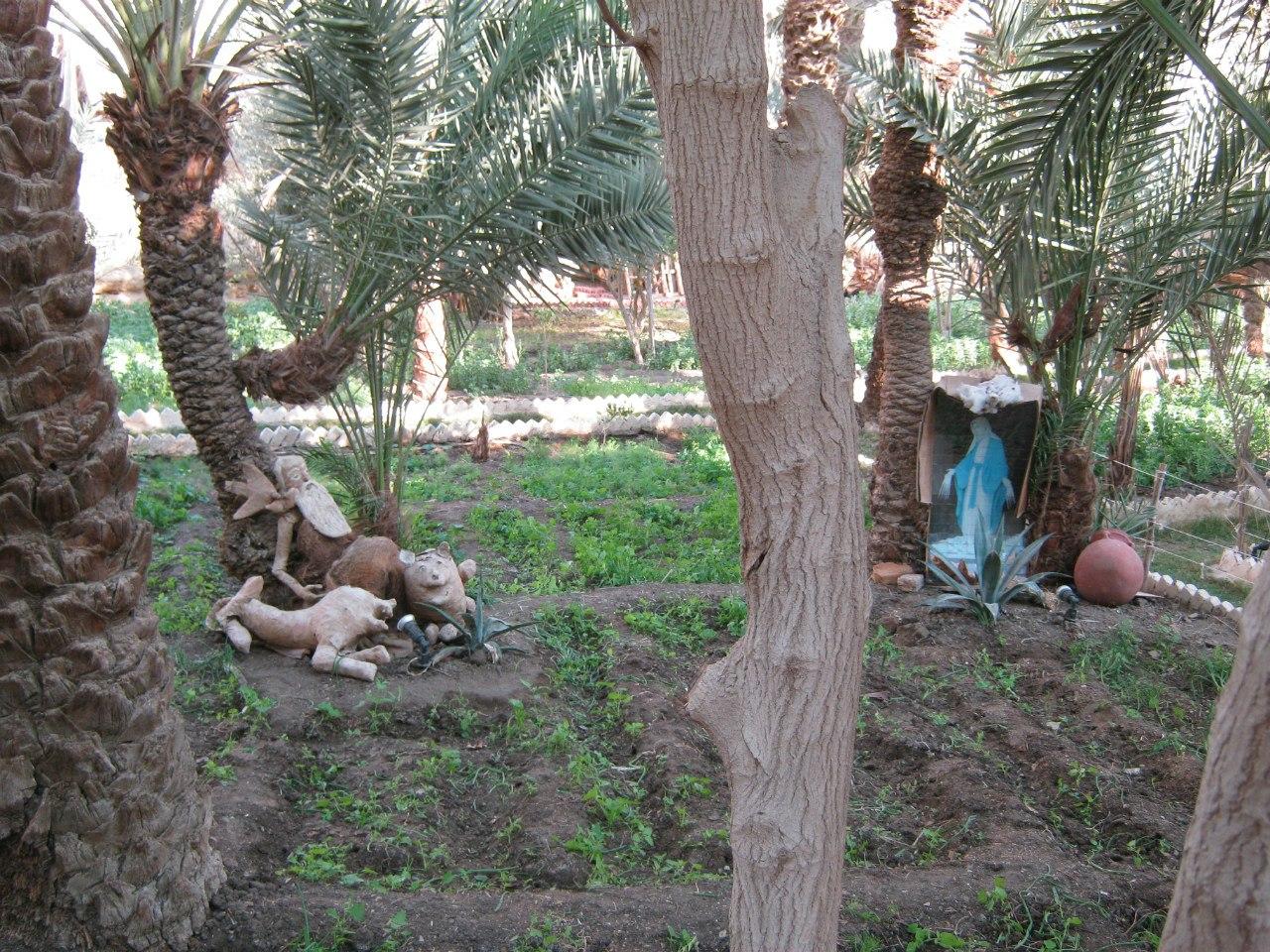 В саду монастыря святого Павла в Египте