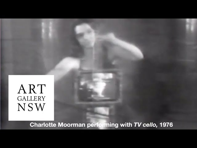 Charlotte Moorman performs with Paiks TV cello