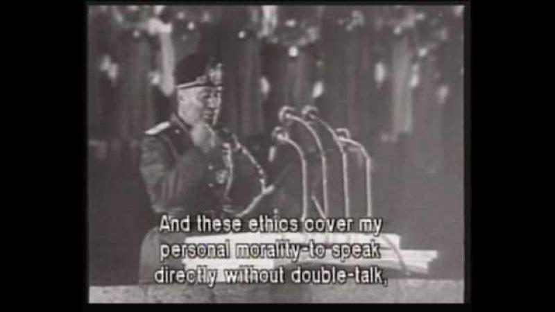 Benito Mussolini Speaks in Berlin 1937 English Sub Titles