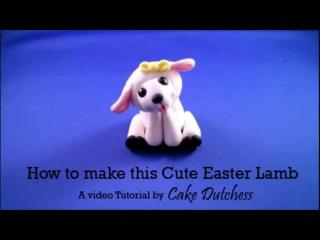 Декорирование тортов: лепим милую овечку из мастики