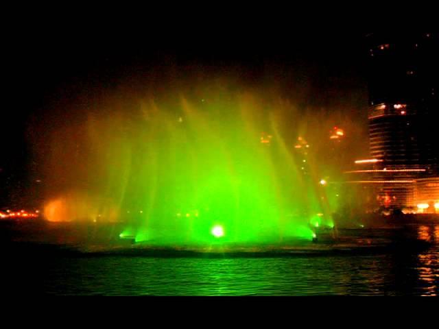 ОАЭ Дубай Поющие фонтаны 3gp Dubai Emirates