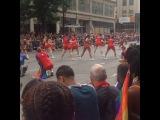 "FitnessGawdess_Miya on Instagram: ""Didnt think Id get to see any of it but I did! #prideweek #pride #gay #gaypride #parade #cheer #cheerteam"""