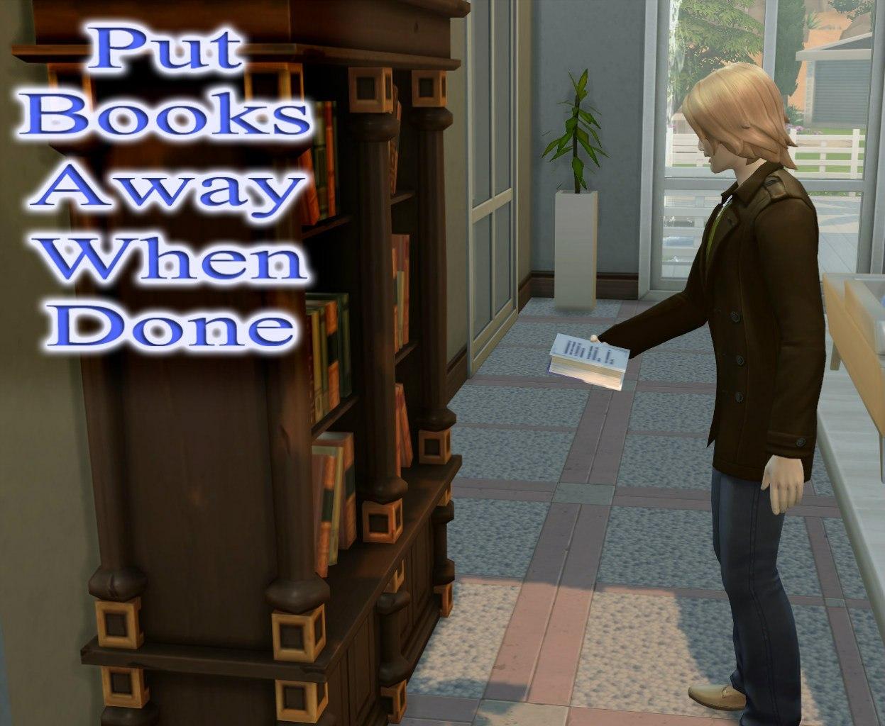 Автоматически ложить книги на место после прочтения
