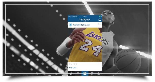 Черная Мамба Коби Брайант в инстаграм НБА2К16 2015 года