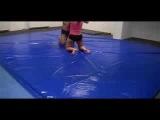 man vs. woman mixed wrestling