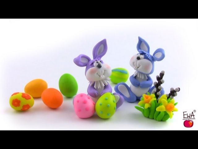 ЗайцыLET'S CLAY! Easter Bunny - tutorial polymer clay
