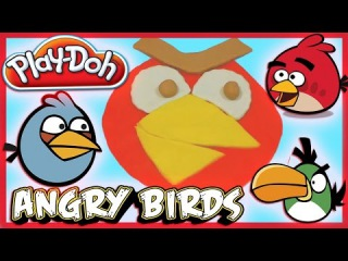 Play-Doh: ��� ������� Angry Birds (���� ������) �� ���������� ���� �� (Play Doh)