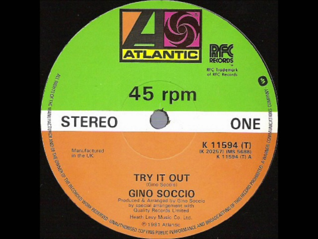Gino Soccio - Try It Out (Original 12 Version)