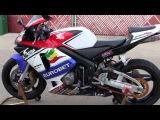 2004 Honda CBR600RR, YOSHIMURA RS-5 Exhaust Sound & Walk Around Aftermarket Fairings EuroBet