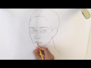 Как нарисовать ЛИЦО ЧЕЛОВЕКА карандашом