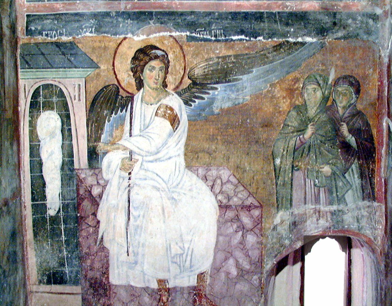 Фреска Белый Ангел (монастырь Милешево, Сербия)