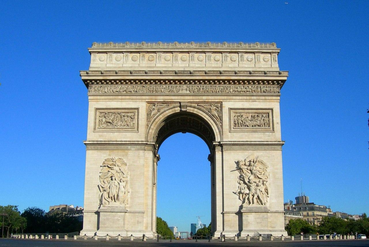 Арка в париже фото
