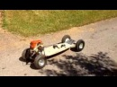 Home made chainsaw powered skateboard 30CC