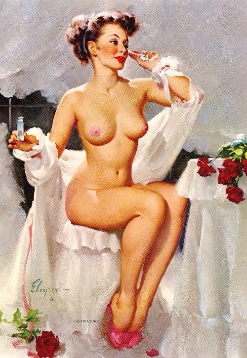 Откровенная рисованная эротика в стиле ню