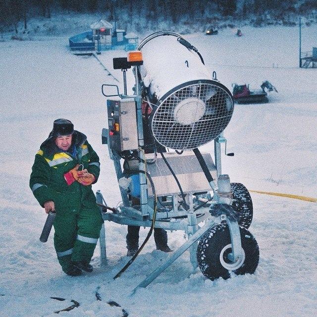Пушка для напыления снега