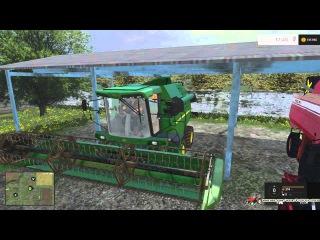 Рабочие будни 36 день.Постановка техники.Завершили уборку.Farming Simulator 2015