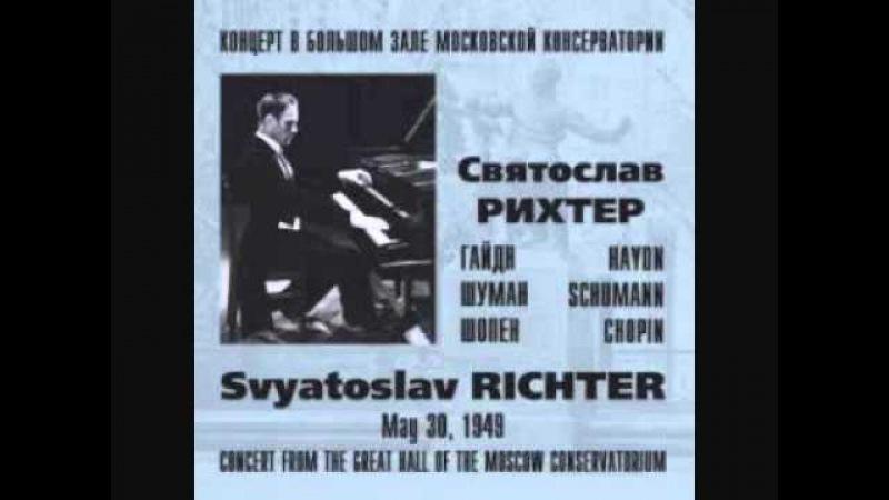 S. Richter - Chopin Etude n. 3 (op.10/3) Live 1949