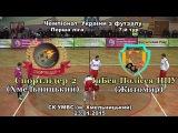 «Спортлідер-2» (Хмельницький) – «ІнБев-Полісся-НПУ» (Житомир) – 5:2 (23.01.2015) Перша ліга