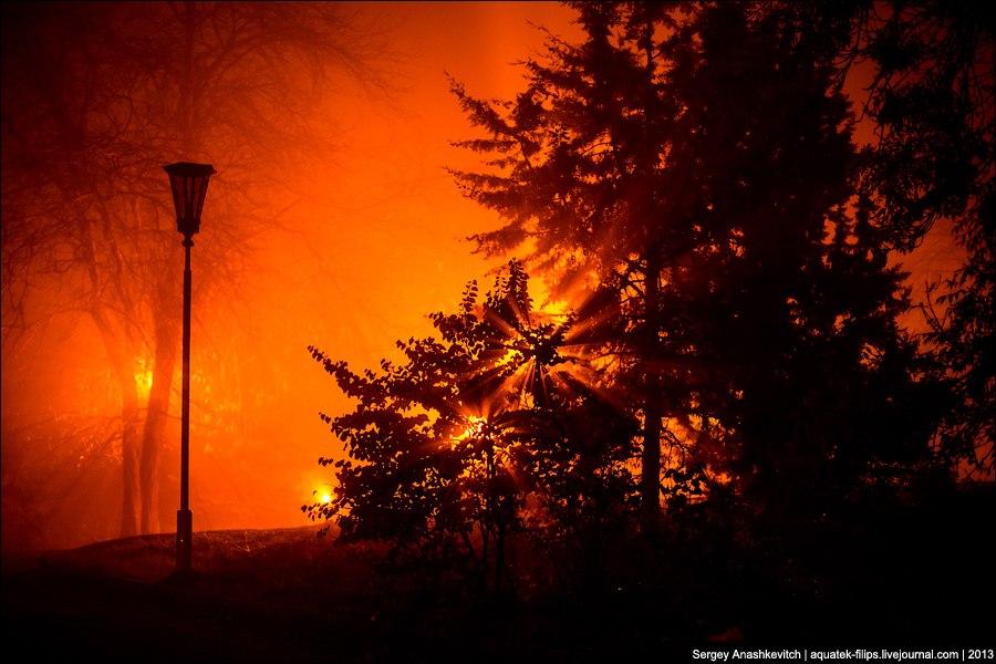 Туманная ночь в Севастополе. Фото: Сергей Анашкевич