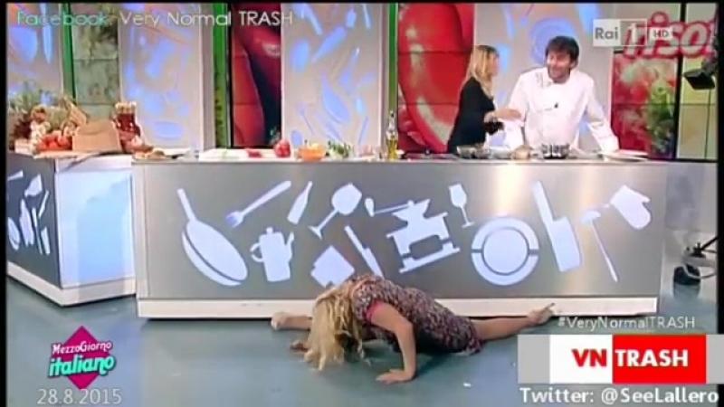 ☭ Гимнастка от Бога - Трюки на Итальянском телевидении