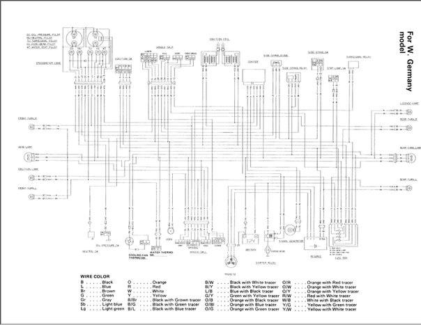 схема проводки GSF400 (germany
