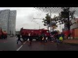 В Интернете сегодня появилось видео ДТП на востоке столицы, которое могло закончиться трагедией - Первый канал