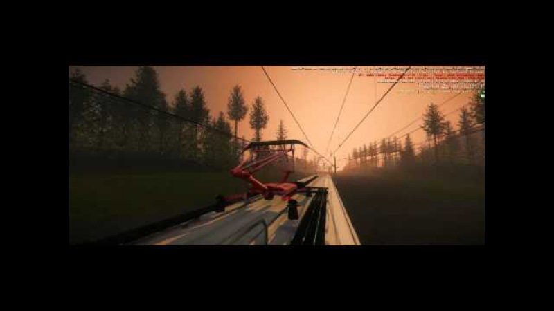 Trainhop the Game First level trip on the roof of the electric train Beautiful view
