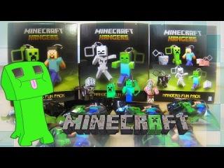 6 Minecraft Blind Bags Hangers Opening Toys / 마인 크래프트 블라인드 가방 걸이 열기