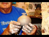 Pottery throwing - How to Making a Pottery Pomegranate #25