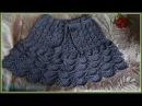 Вязаная юбочка для девочки крючком часть 2