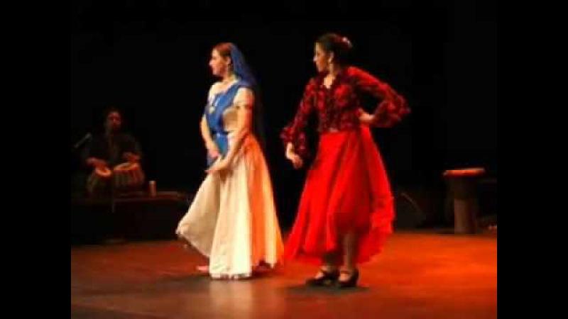 Duet kathak-flamenco by Natalia Radenskaya and Gabriela Gutarra